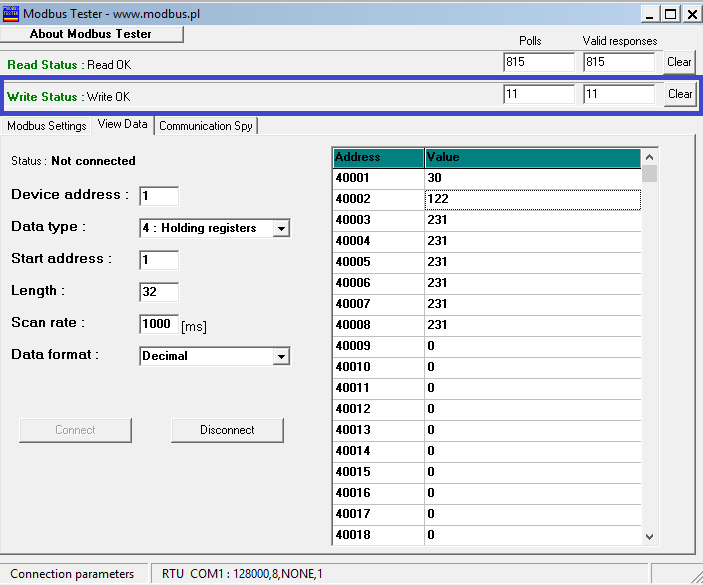 RS01 BN MB WriteStatus